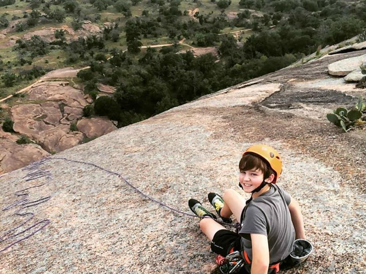 Rock About rock climbing Enchanted Rock kid extreme activities