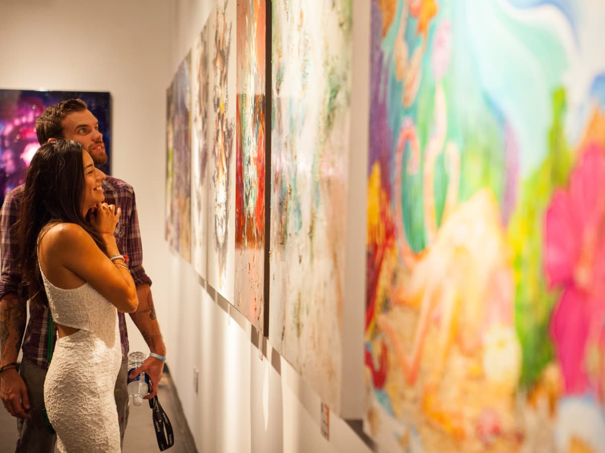News, Shelby, Muir Gallery mural party, July 2015, Scot Tarbox, Liliana Cortes