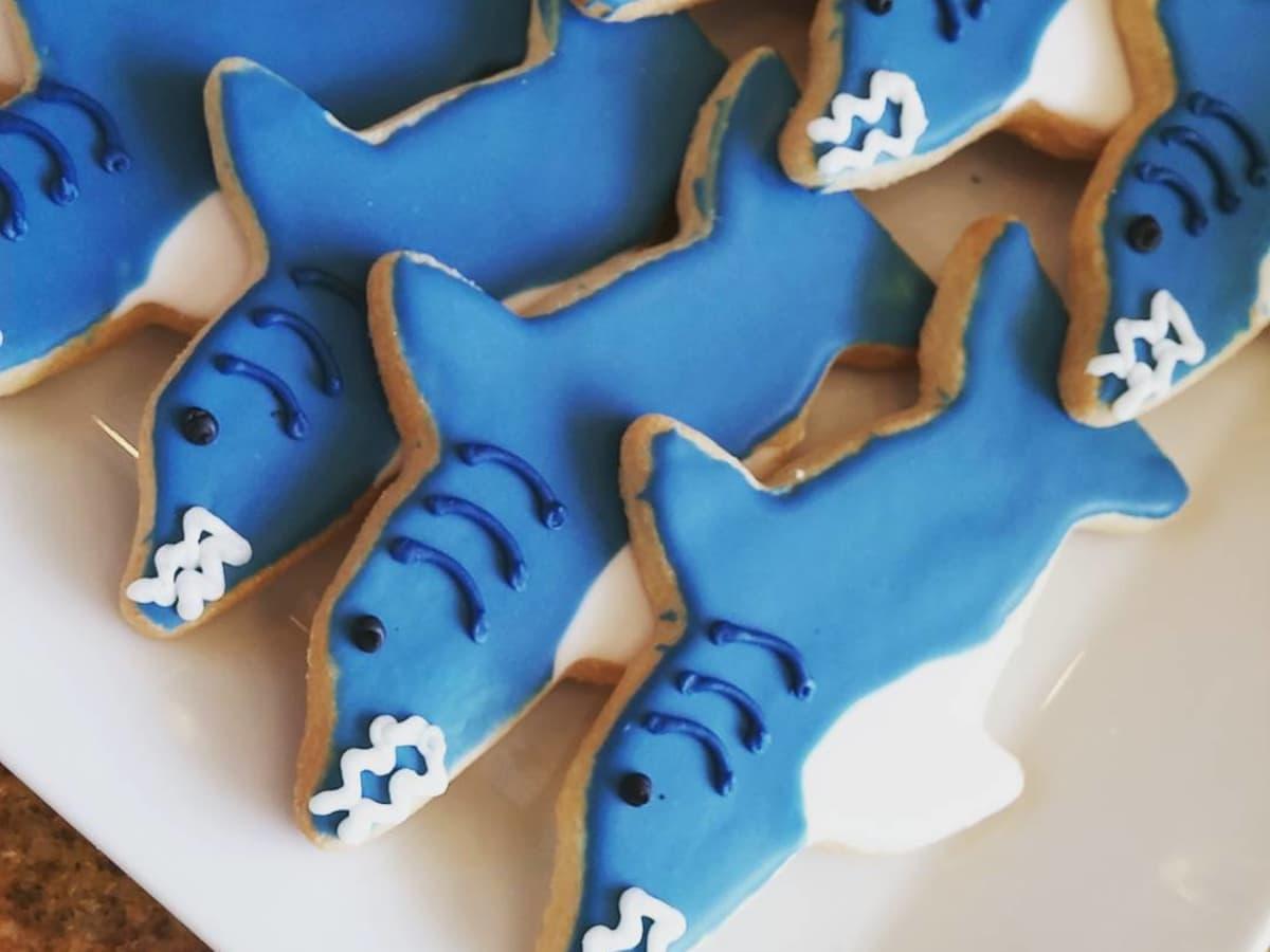 Michael's Cookie Jar shark week cookies