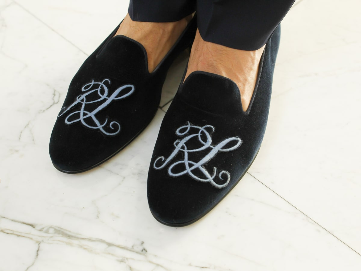 Ralph Lauren Purple Label Spring 2016 collection slippers