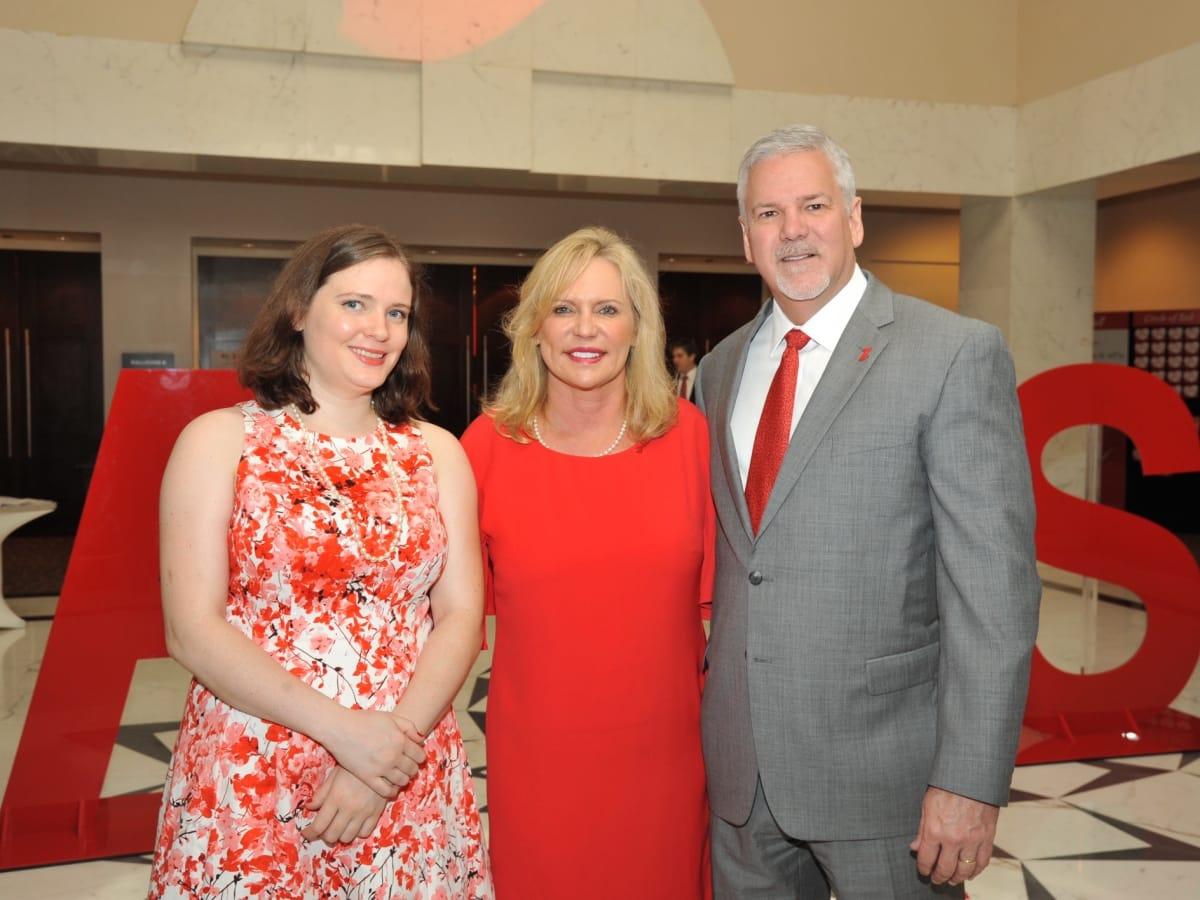 Karen Crum, Keri Black, Kevin Black at Go Red for Women luncheon