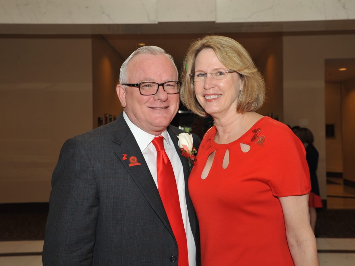 John and Vicki Crum at Go Red for Women luncheon