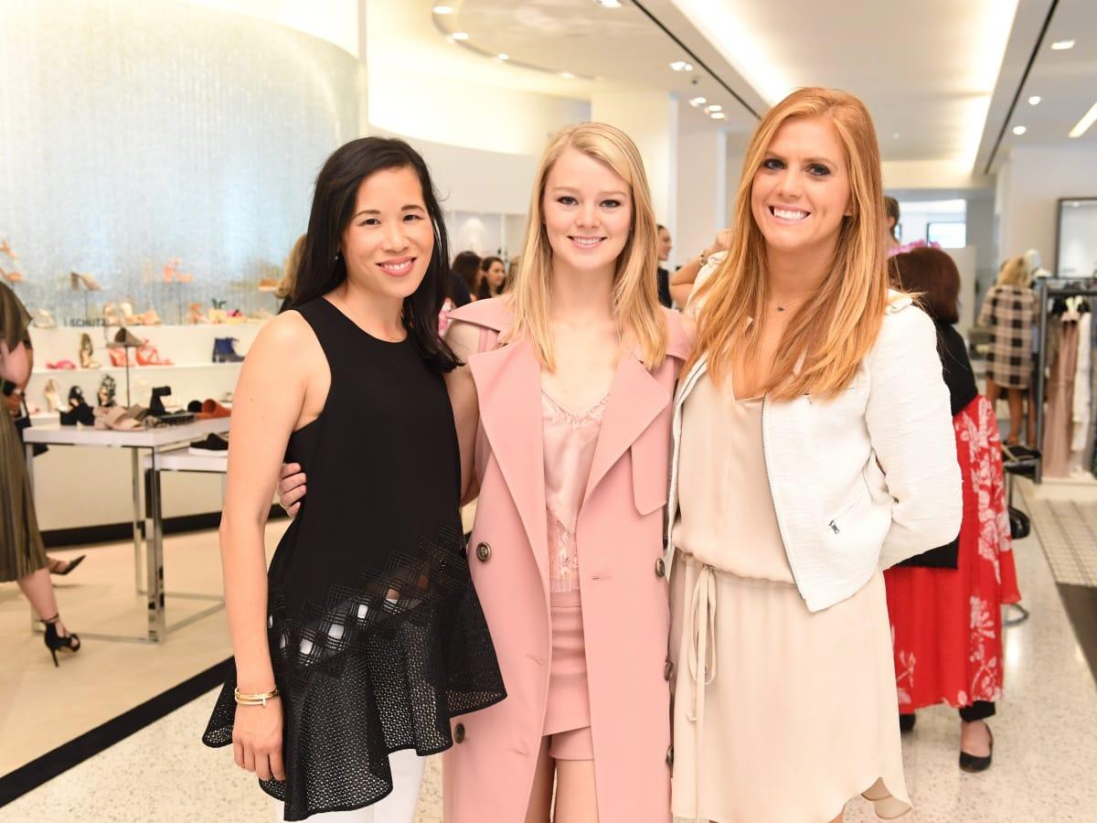 Stephanie Fleck, Amber Hartland and Vivian McNair at Jonathan Simkhai fashion show at Tootsies