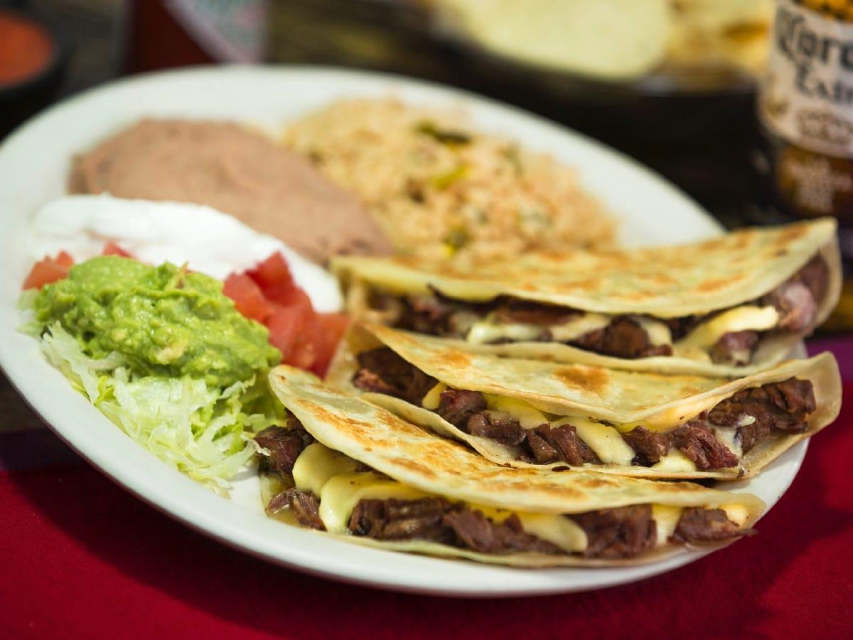 Lopez Mexican Restaurant quesadillas