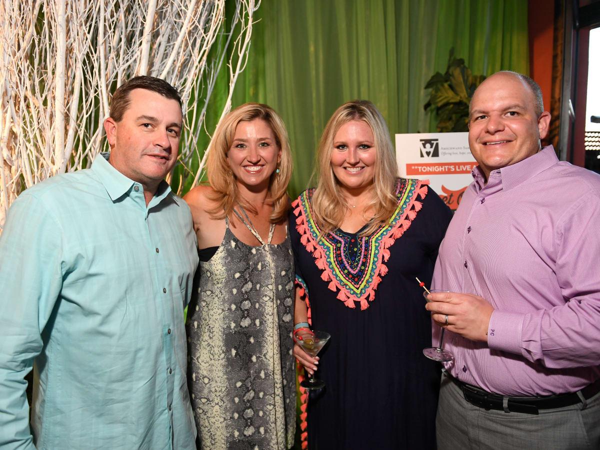 Houston, B&B Butchers & Restaurant Partini with Amschwand Sarcoma Cancer, June 2017, Todd Whitting, Tara Whitting, Meredith Chastang, Patrick Chastang