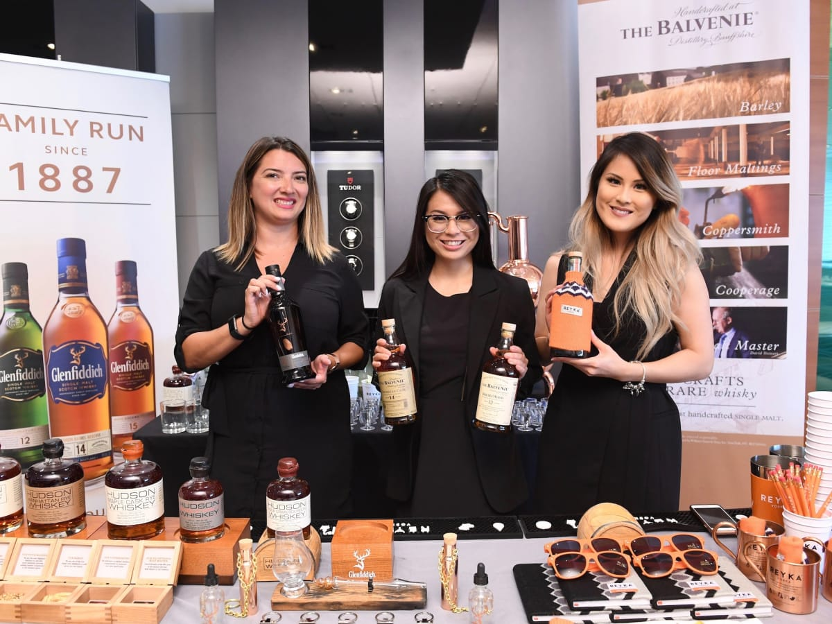 Scotch/Bourbon Tasting at Guy's Night Out party at IW Marks Jewelers