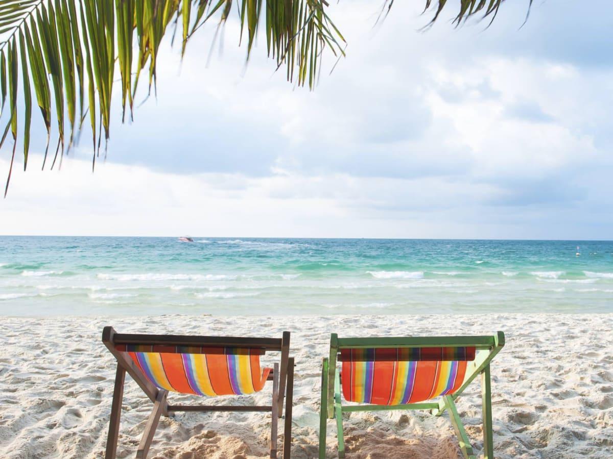 tropical beach ocean