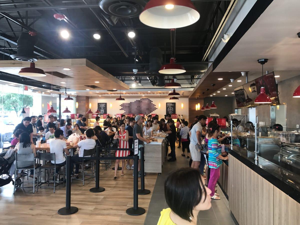 85C Bakery Cafe Houston interior