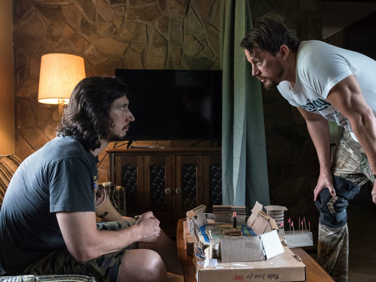 Adam Driver and Channing Tatum in Logan Lucky