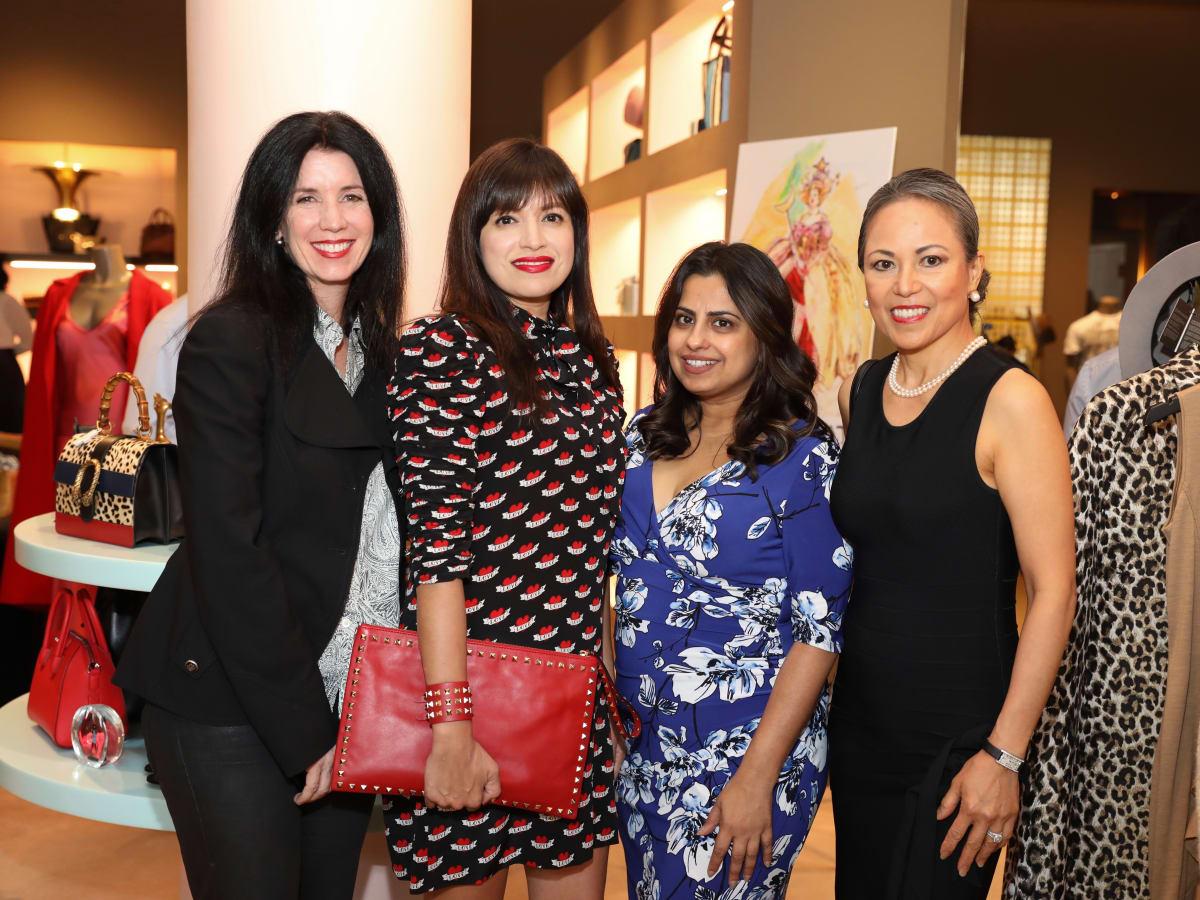 Houston Grand Opera party at The Webster, Ann Malcolm, Sandra Manela, Ruchi Mukerjee, Raquel Lewis