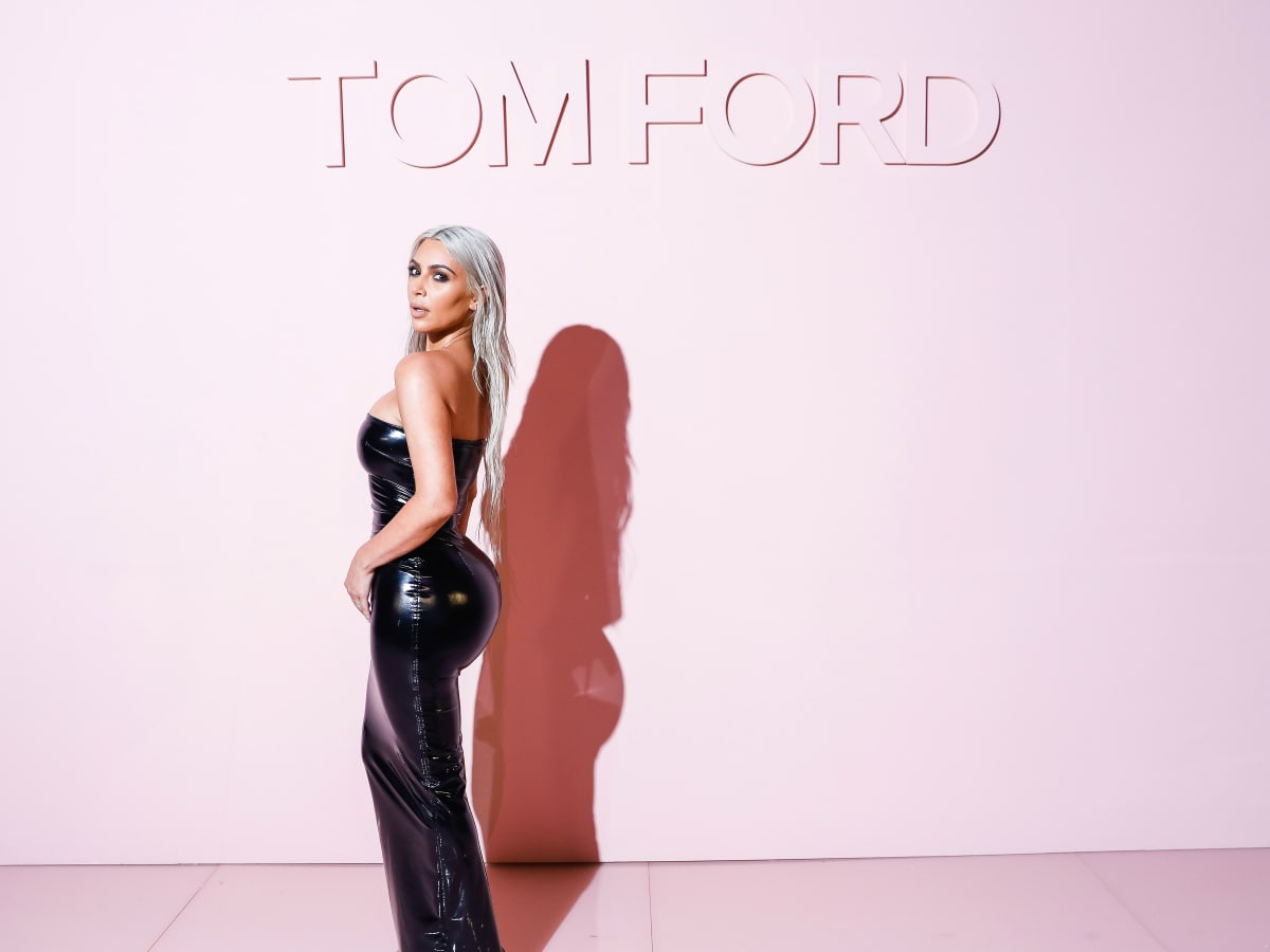 Kim Kardashian at Tom Ford show in New York Fashion Week recrop