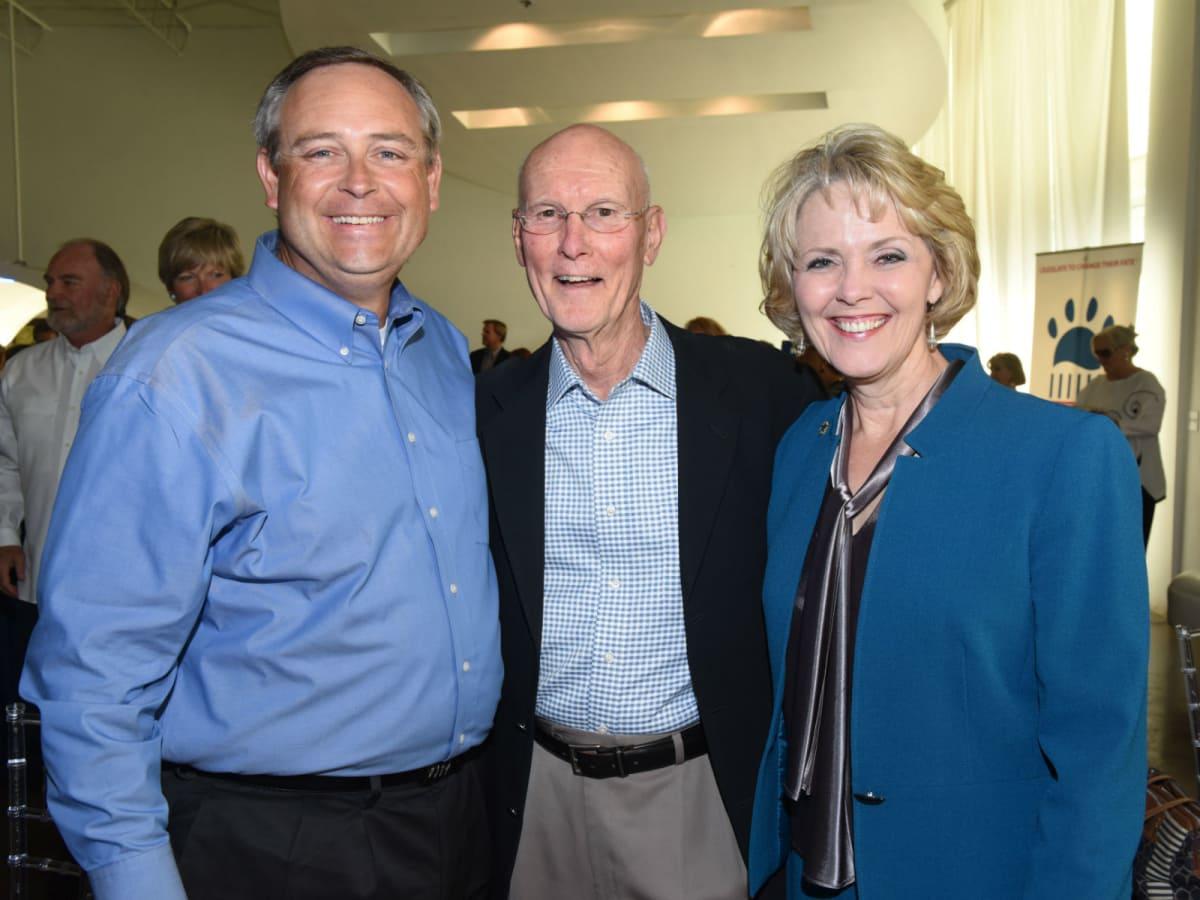 Rep. Rodney Anderson, Skip Trimble, Rep. Cindy Burkett