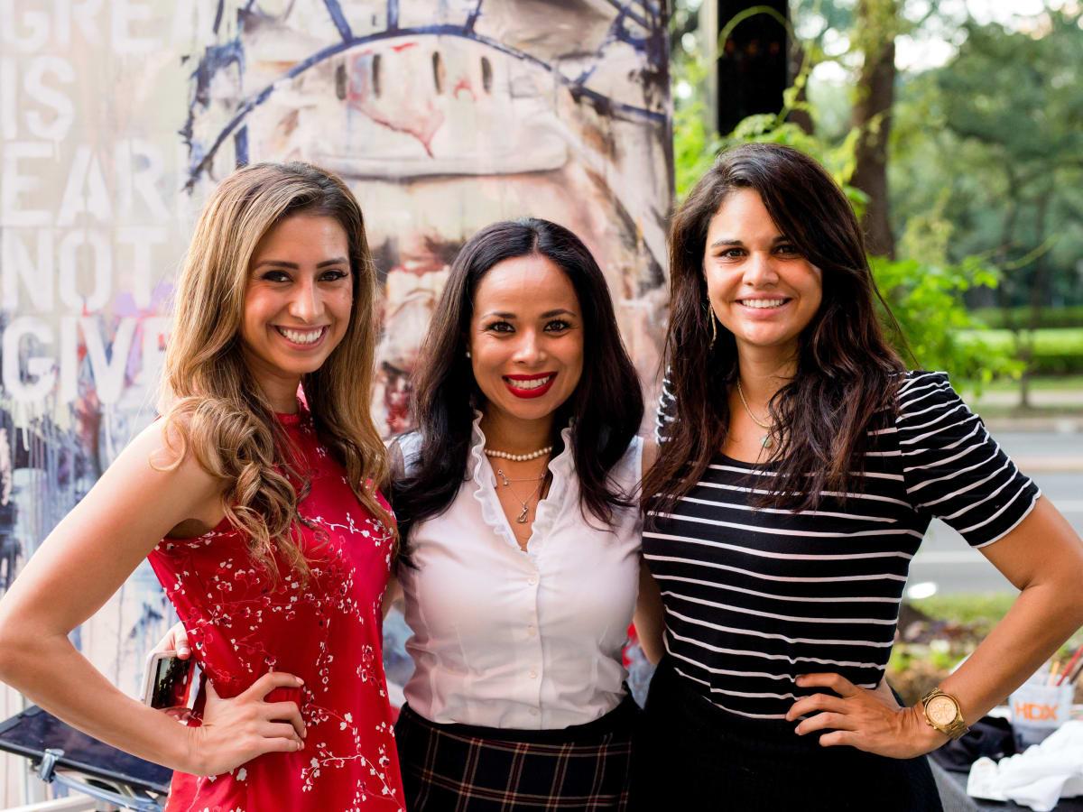 Houston, SportsMap launch party, October 2017,  Myndi Luevano, Claudia Soileau, Nelly Gonzalez