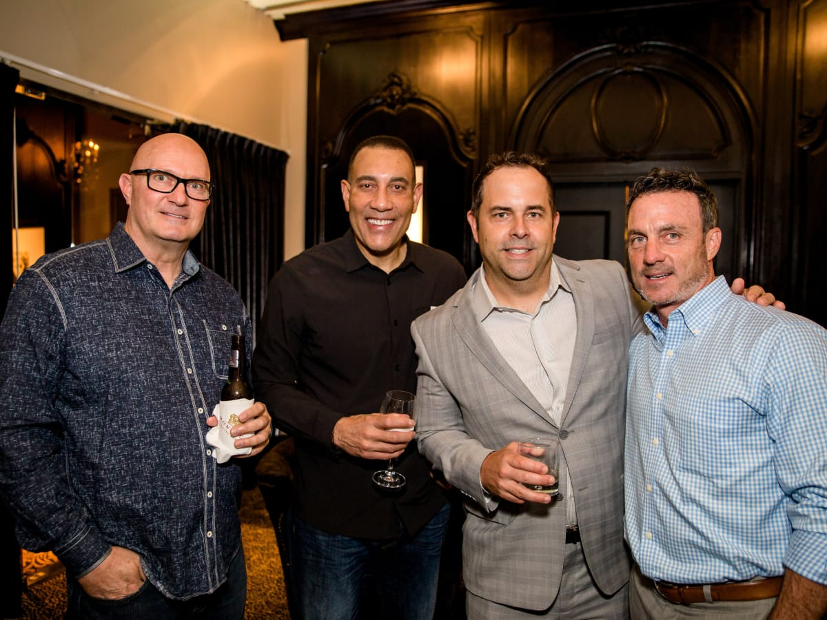 Houston, SportsMap launch party, October 2017, David Russell, Butch Alsandor, Joel Blank, Mike Guest