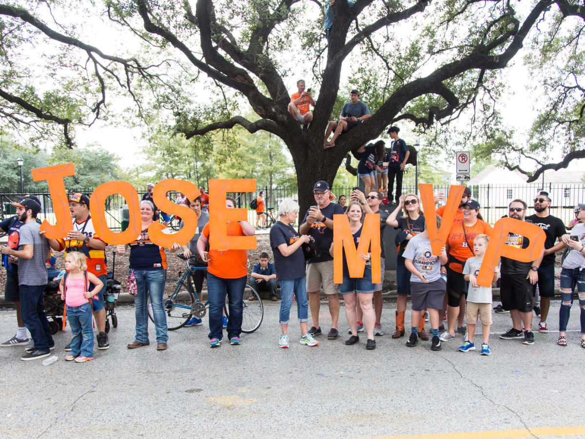 Astros World Series victory parade and rally, Jose Altuve