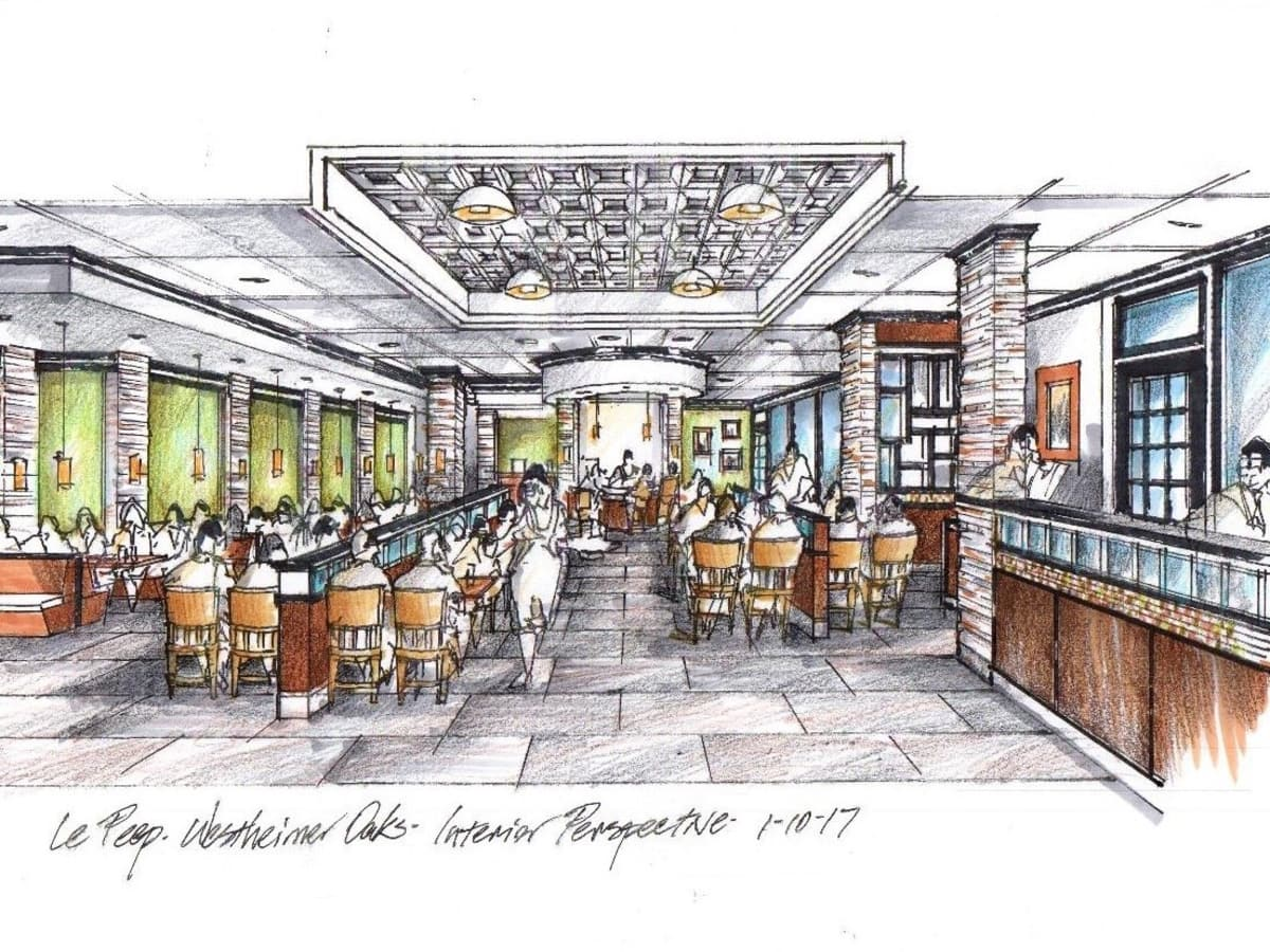 Le Peep new location interior drawing