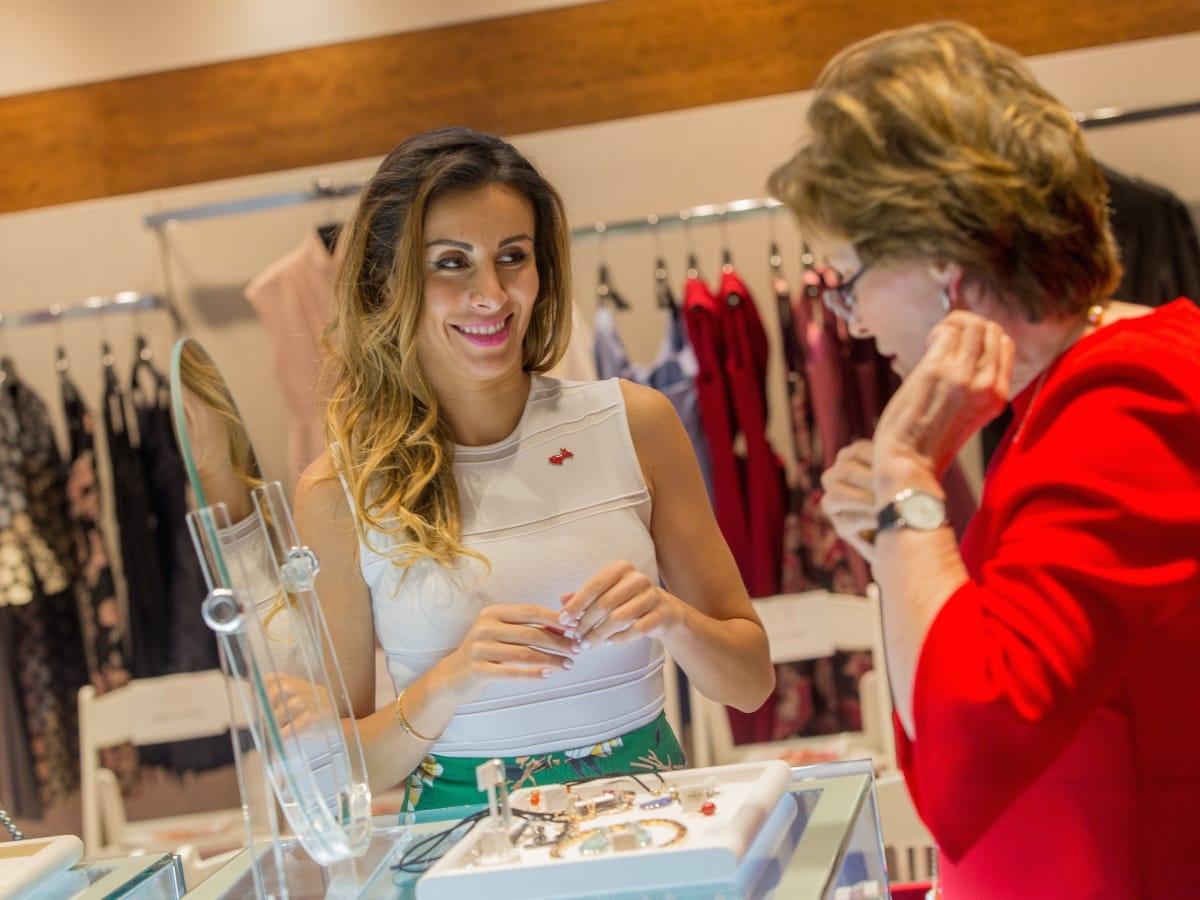 Jewelry designer Katherine Jeter, Bobbie Nau at Circle of Red