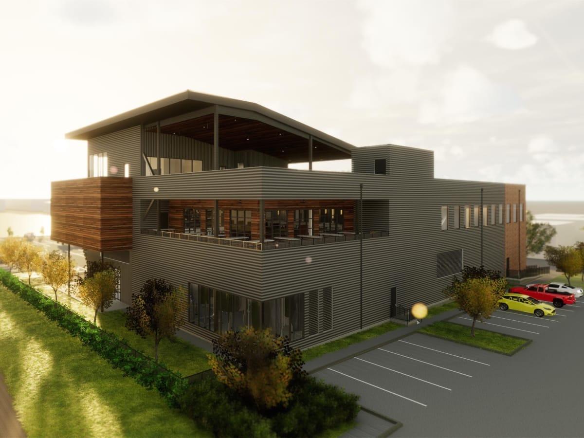 Buffalo Bayou new brewery exterior view
