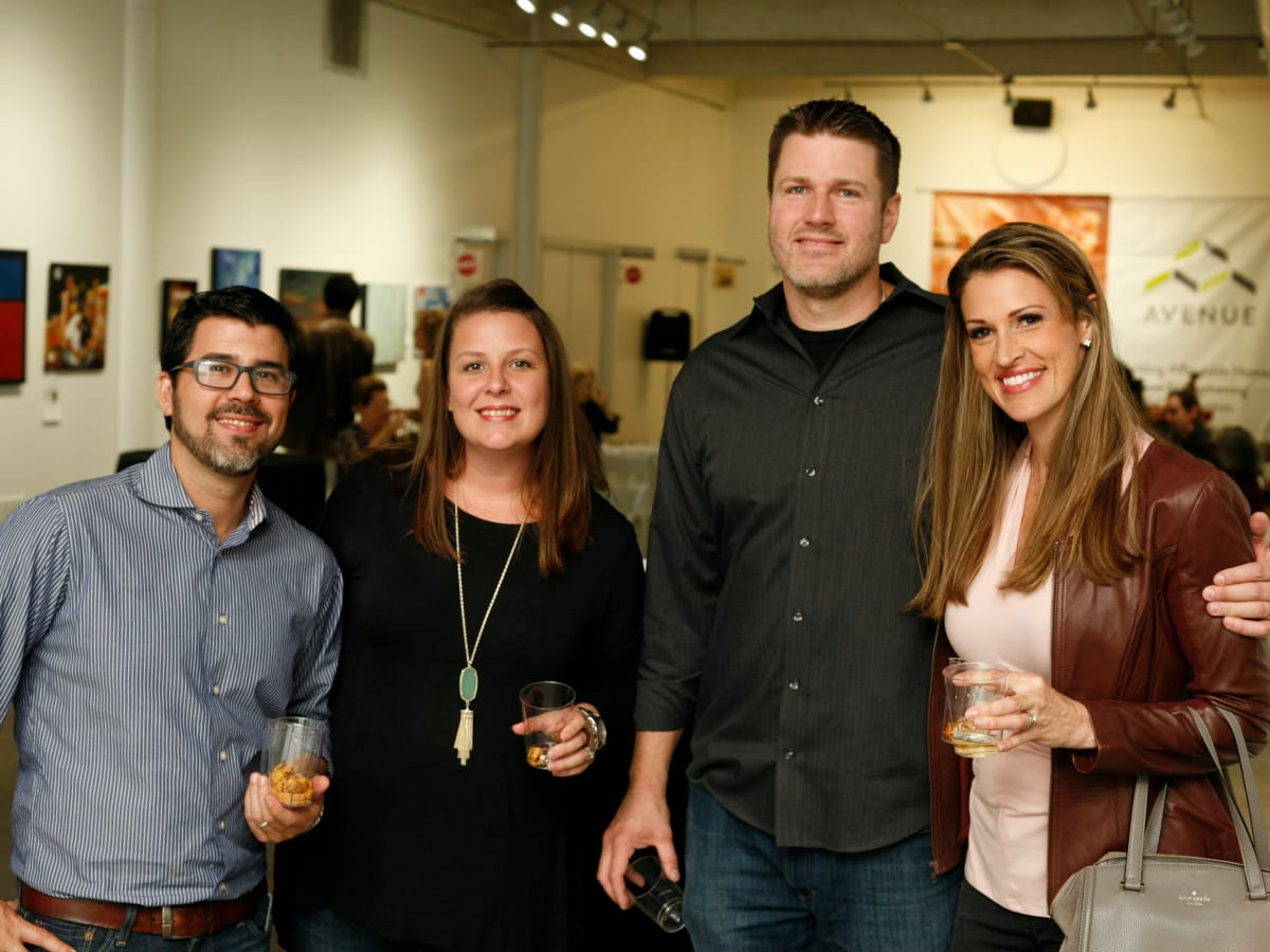 Geoffrey and Alissa Castro, Josh and Anji Moore at Art on the Avenue 2017