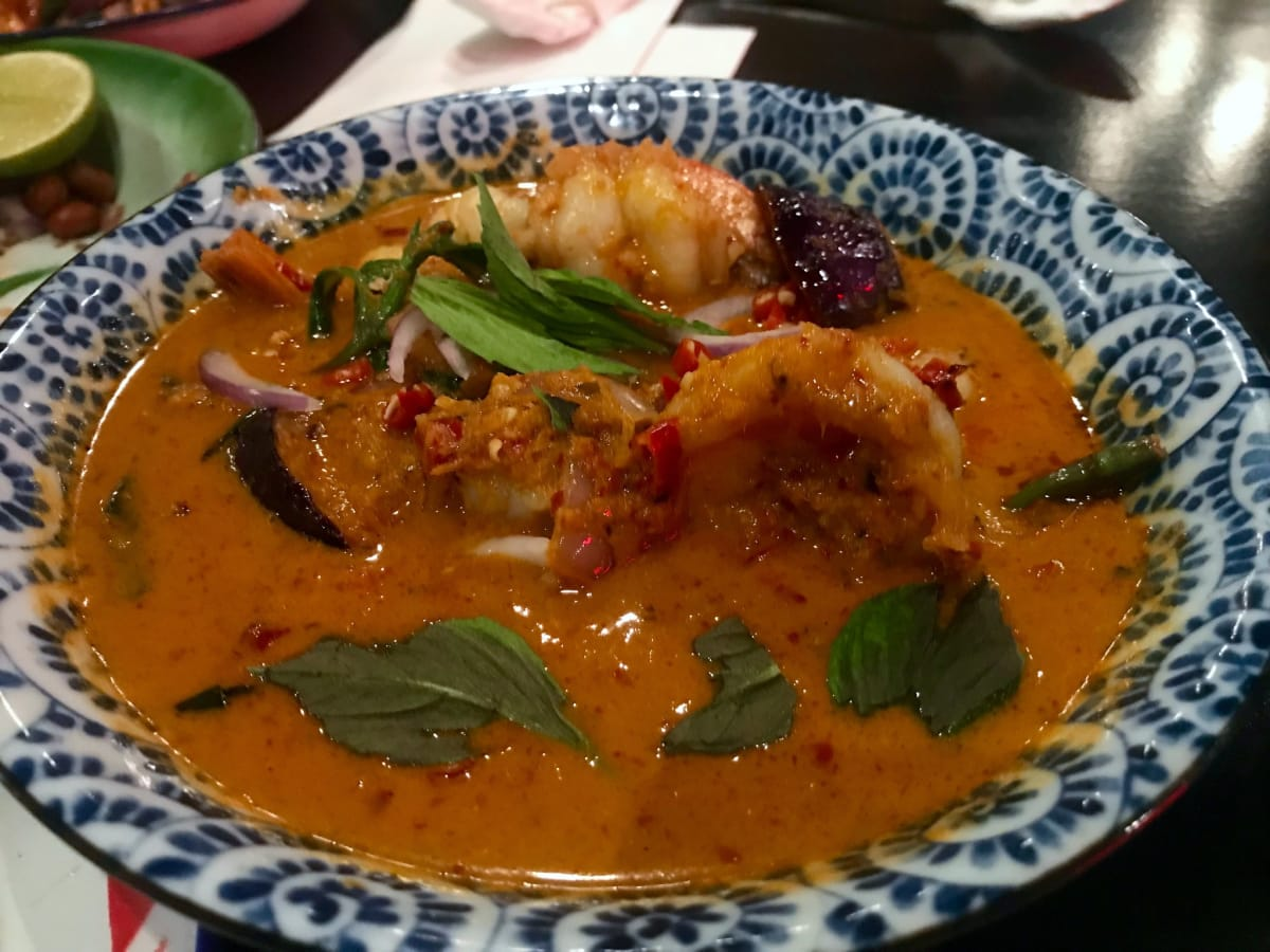 Night Market spicy shrimp curry