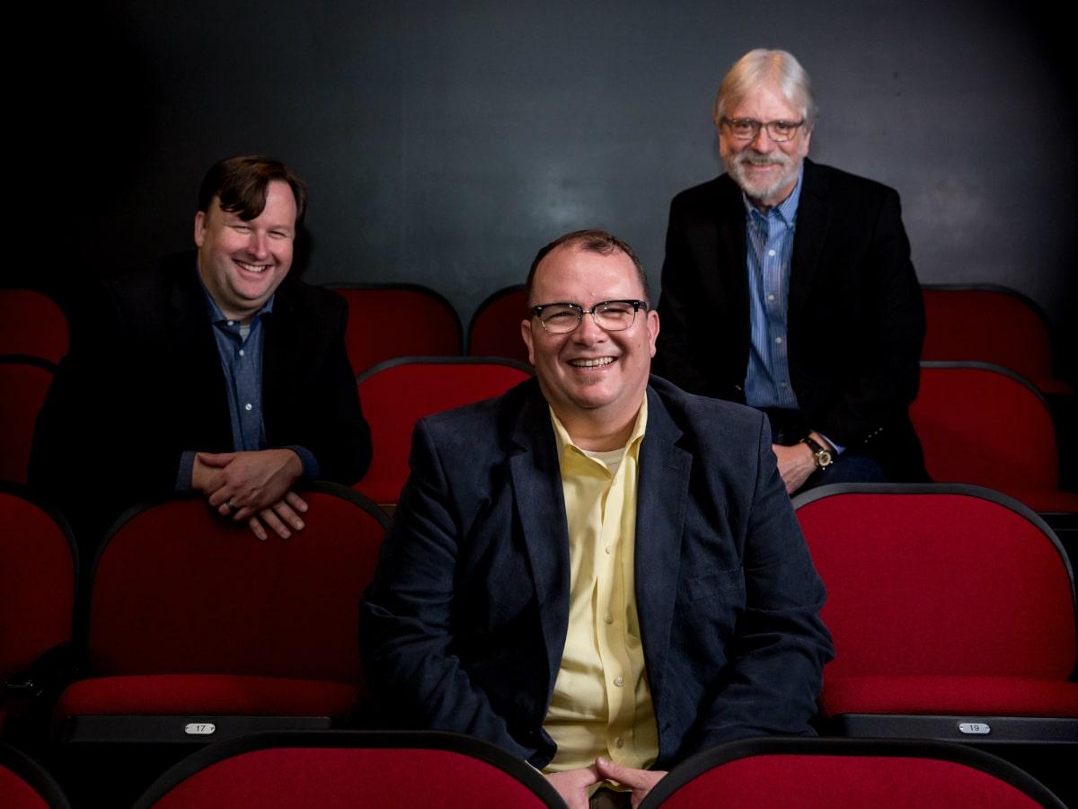 Circle Theatre's Tim Long, Matthew Gray, and Bill Newberry