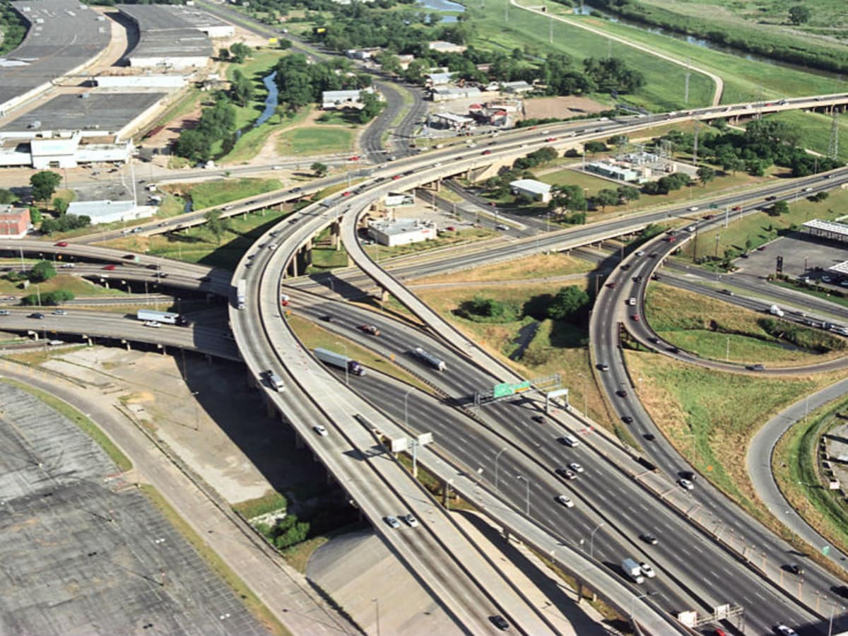 Downtown Dallas mixmaster highways