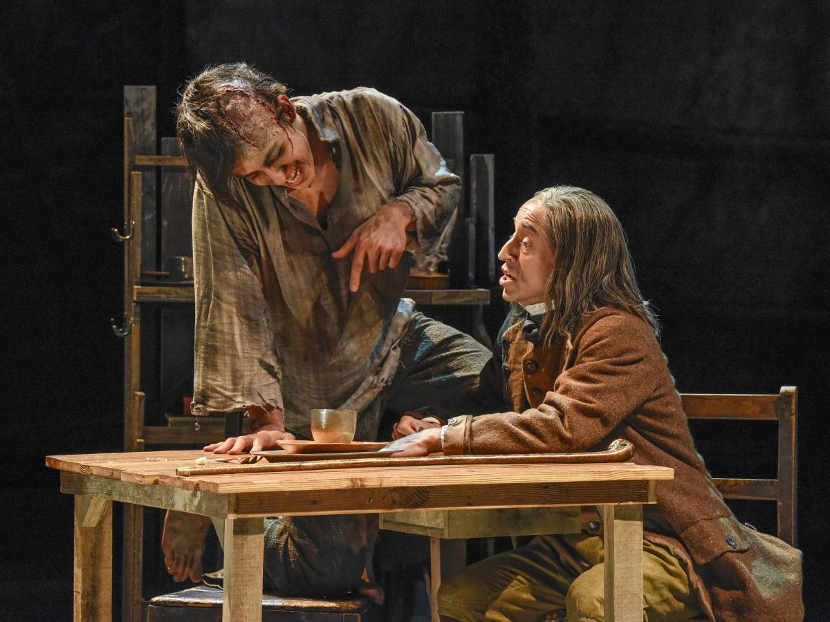 Kim Fischer and Blake Hackler in Dallas Theater Center's Frankenstein
