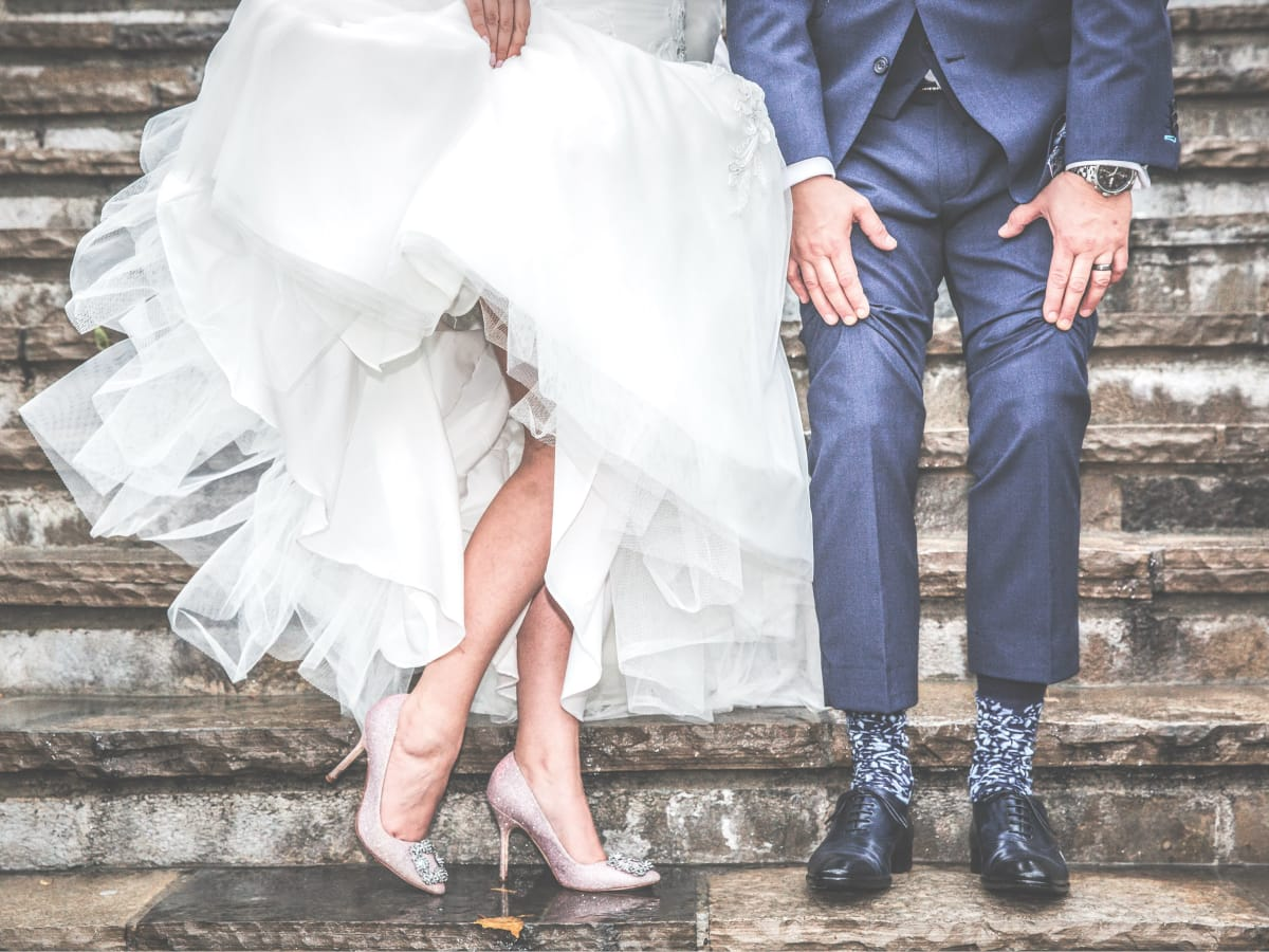 Reverbery bride and groom