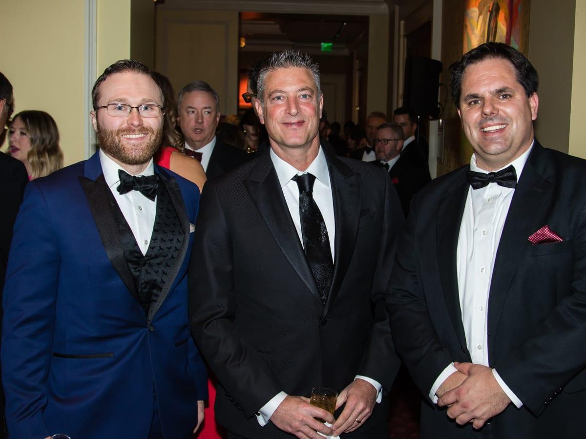 David McAdams, Jeremy Lock, Mike Heaton, Unicef gala 2018