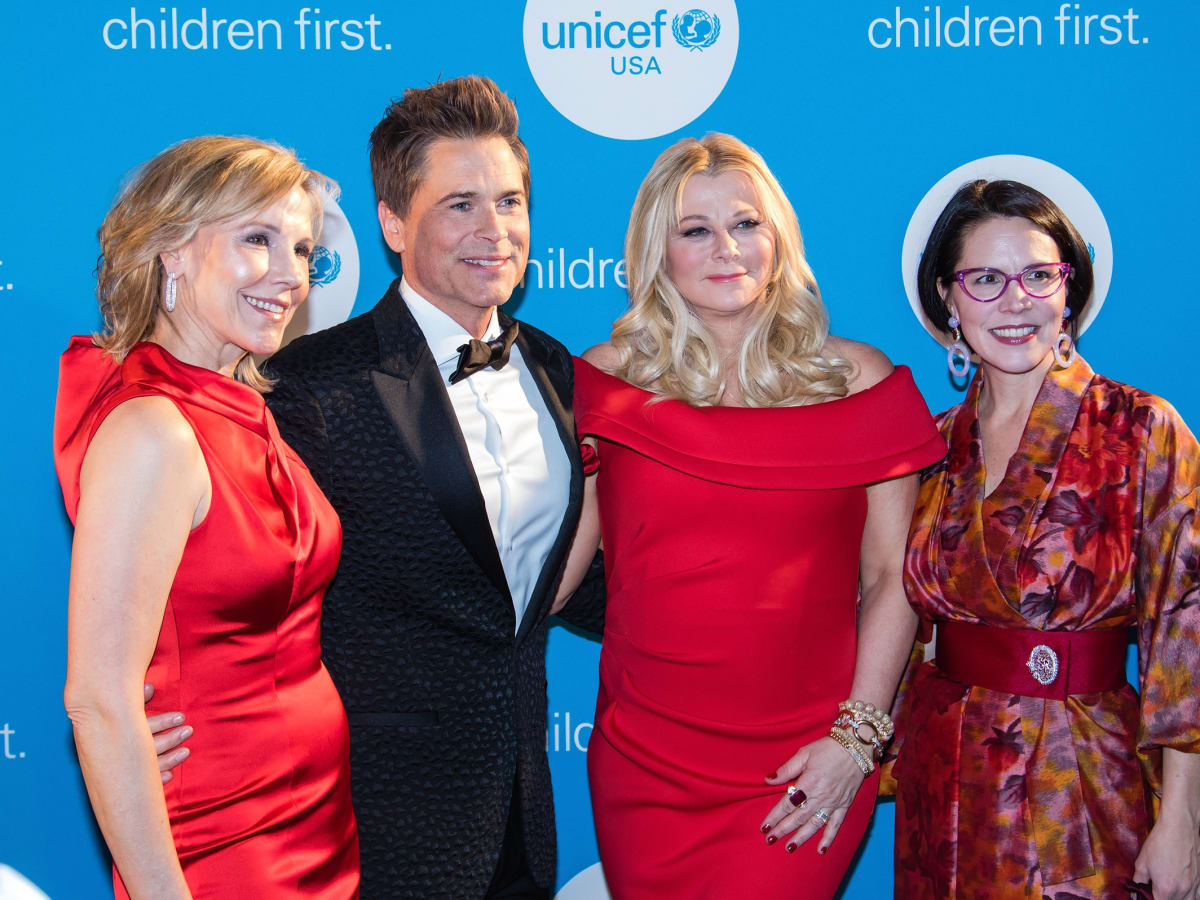 Joyce Goss, Rob Lowe, Sheryl Lowe, Selwyn Rayzor, Unicef Gala 2018