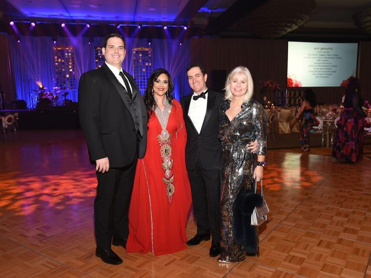 Houston, Heart Ball, February 2018, James Guest, Yara El-Sayed Guest, Catherine Poupeau, Jean Francois Poupeau
