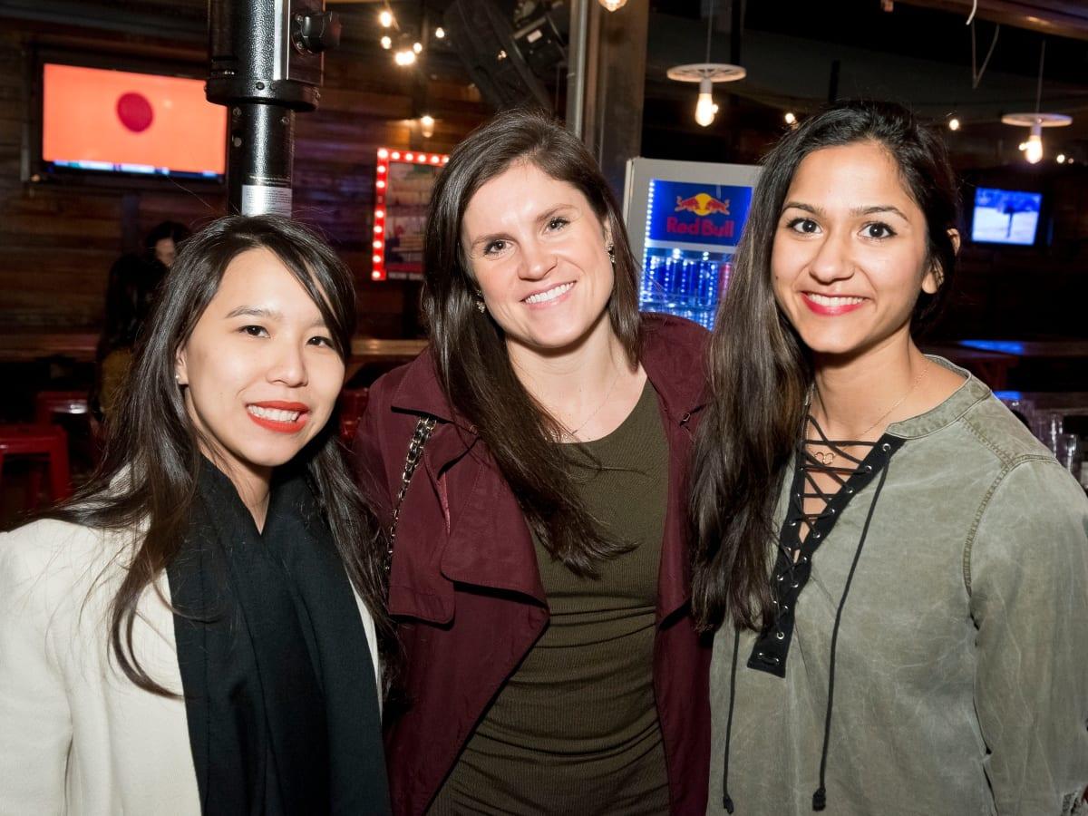 Houston, Redbuds date auction, February 2018, Jessica Nguyen, Casey Timmons, Zoya Khan