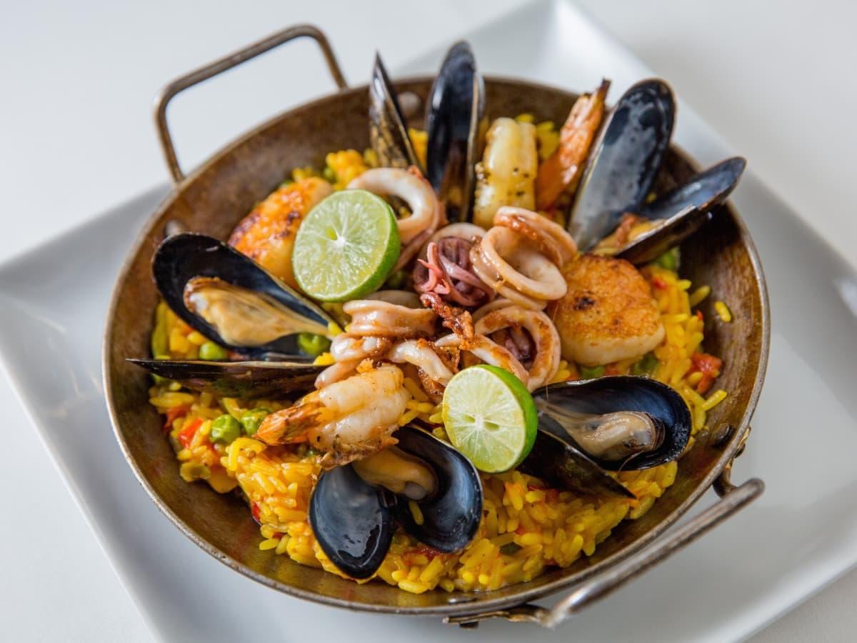 Fig & Olive Galleria seafood paella