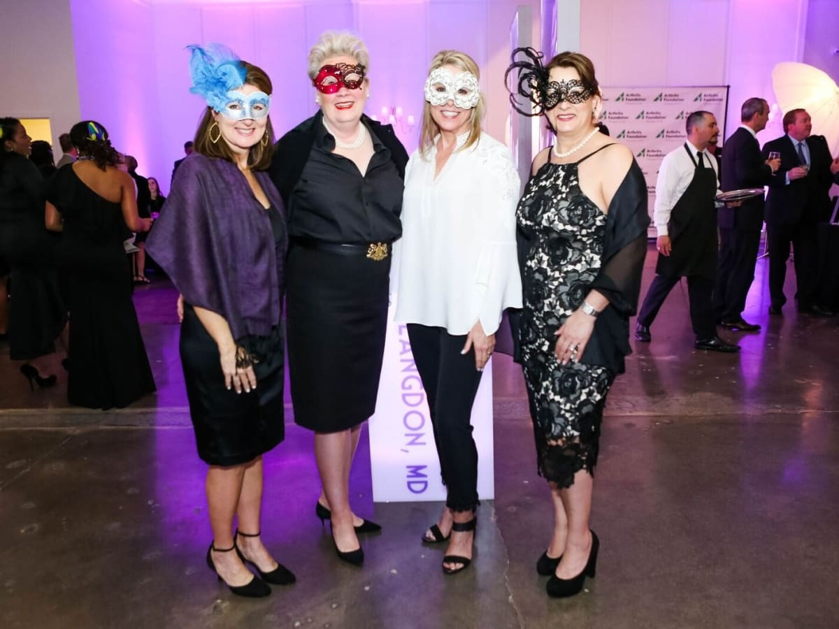 Carey Garrett, Carmen McTaggart, Christi Bledsoe, Dilara Deal, Arthritis Foundation Mardi Gras Ball
