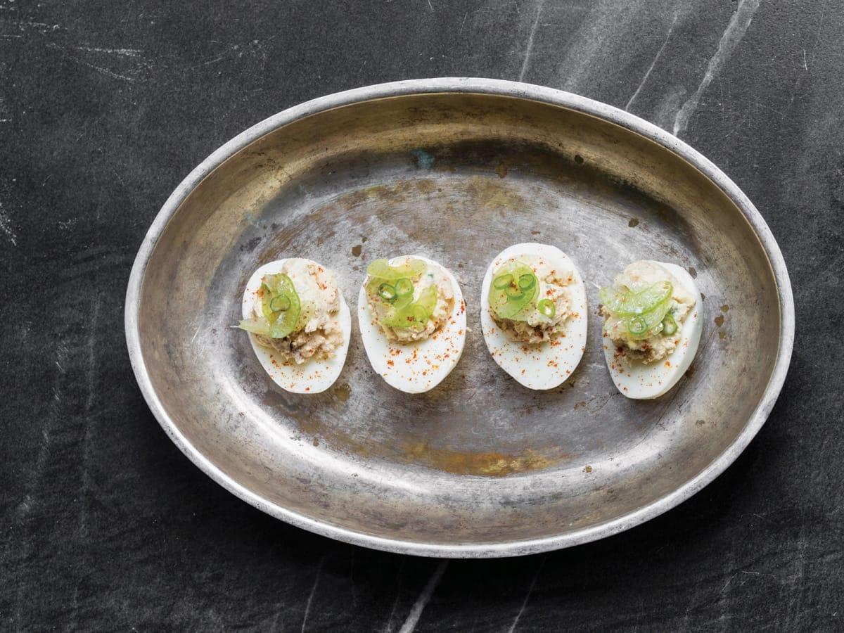 Julep cocktail book Alba Huerta deviled eggs