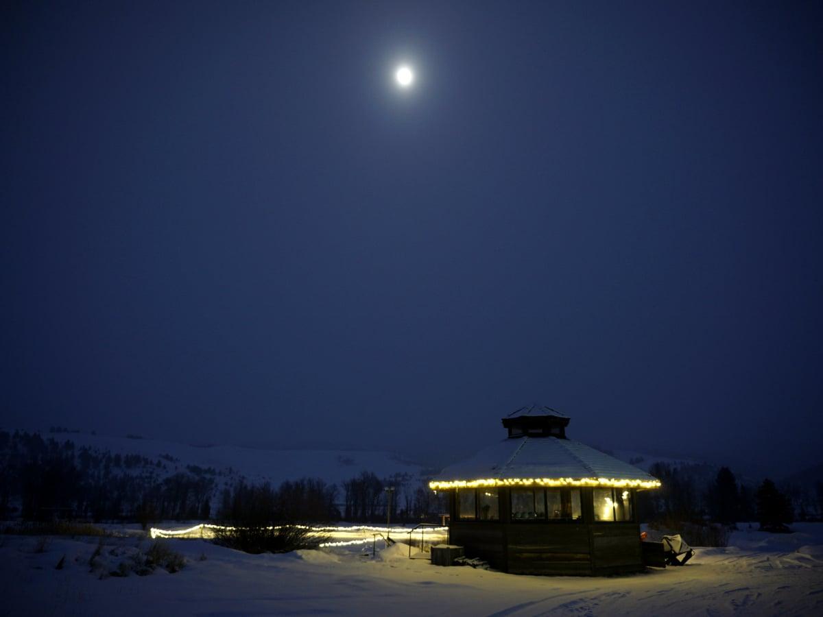 Hoffman - travel - night shot at Montana Ranch at Rock Creek