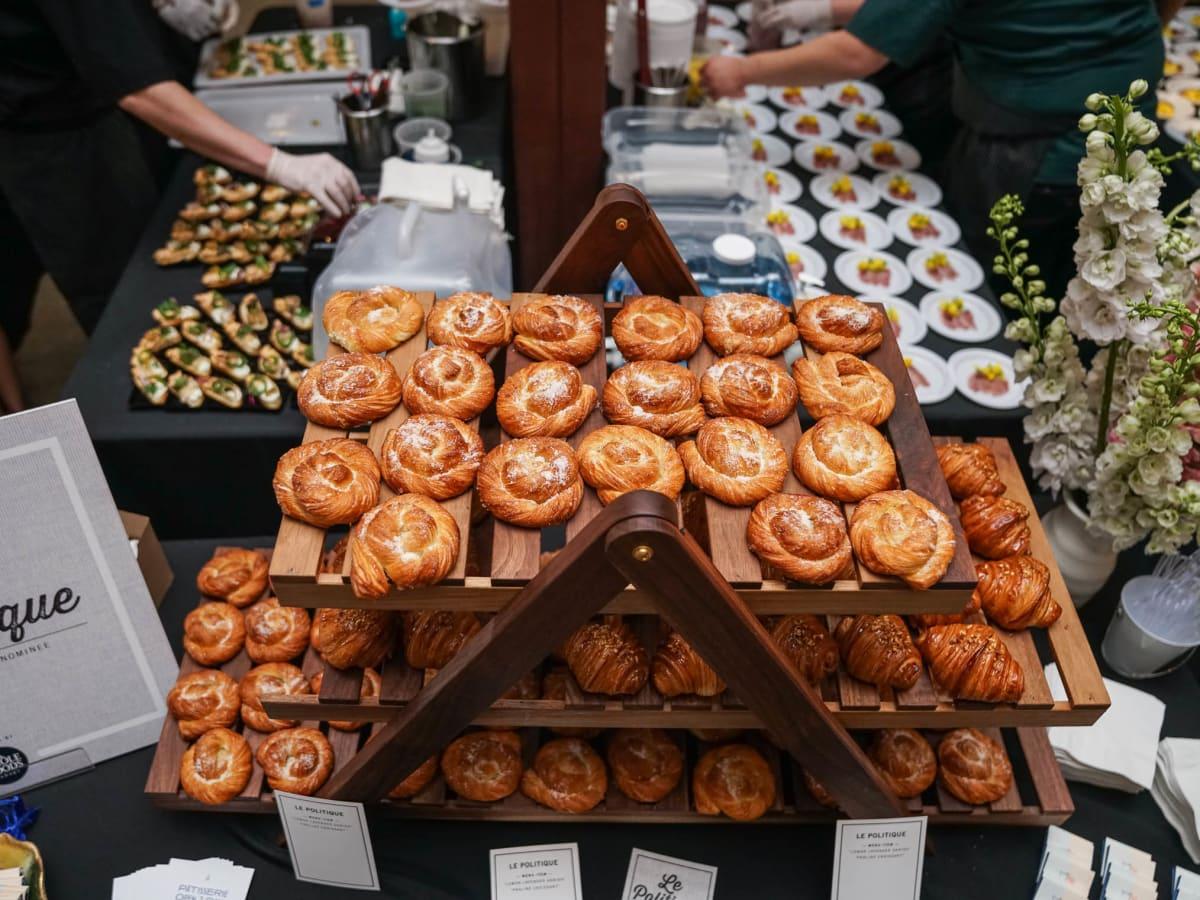 CultureMap Austin 2018 Tastemaker Awards at Fair Market Le Politique Lemon Lavendar Danish Praline Croissant