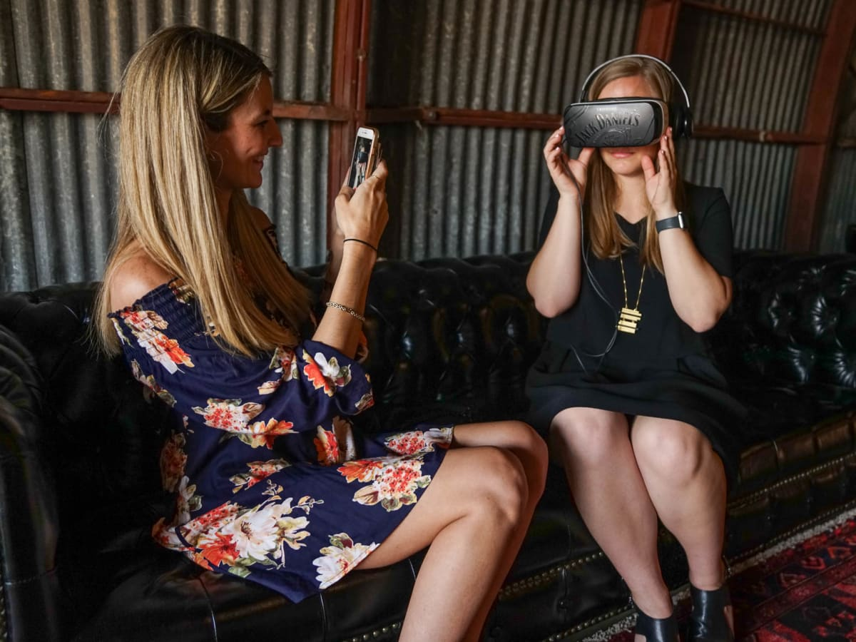 CultureMap Austin 2018 Tastemaker Awards at Fair Market Woodford Reserve Virtual Reality Jess Prescott Taylor Pass