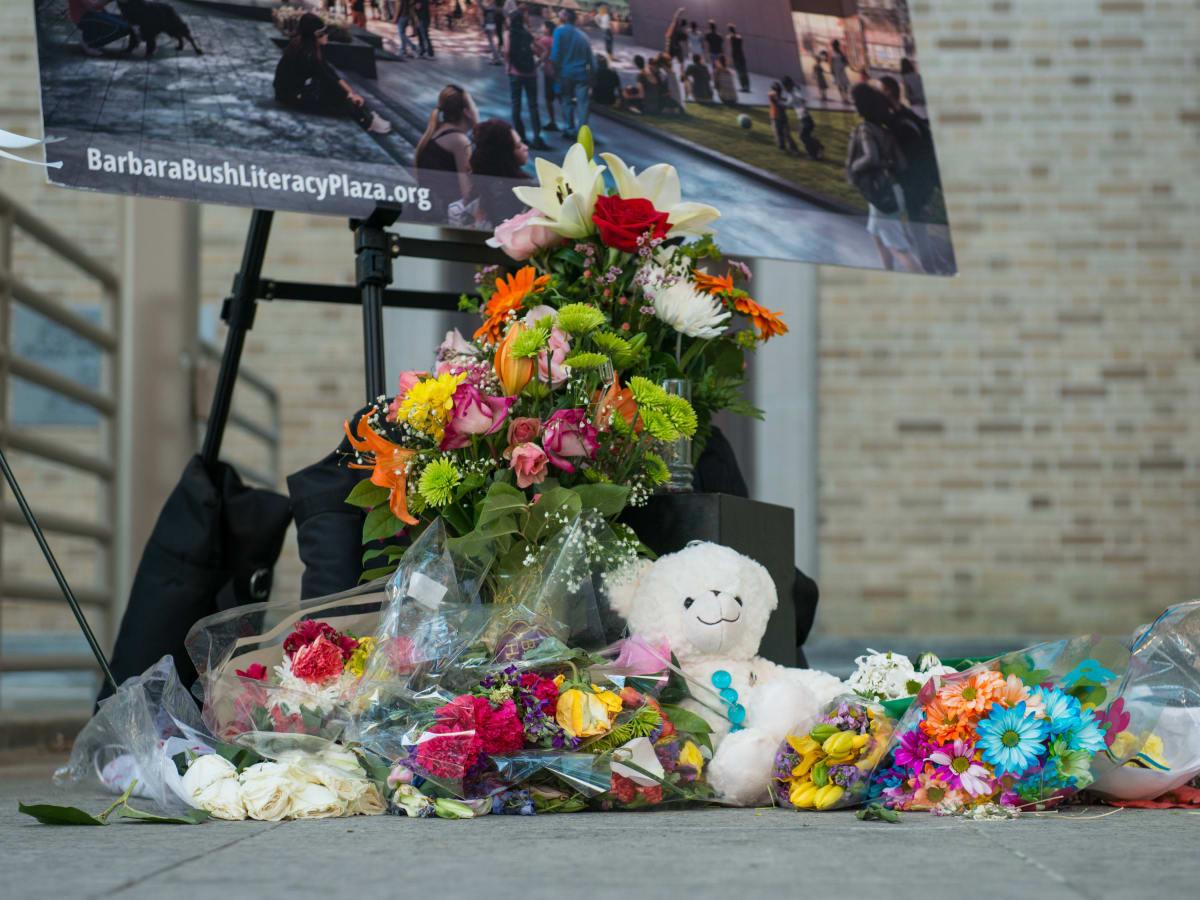 Barbara Bush City Hall memorial