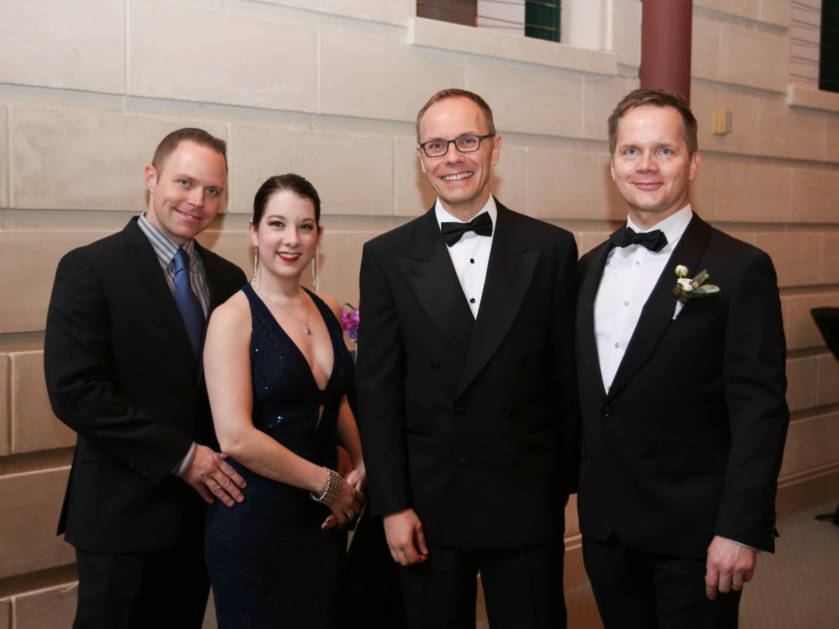 Fort Worth Opera Gala 2018, Kyle and Barbara Jordan, FWO Director Tuomas Hiltunen and Damon Clyde