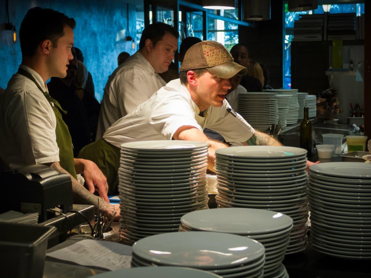 Matt McCallister in the kitchen at FT33 in Dallas