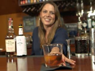 Austin bartender Sera Baxter making an old fashioned