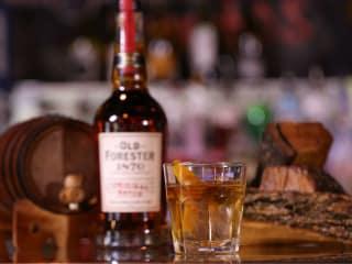 Houston bartender Harold Madison makes the Autumn Twilight