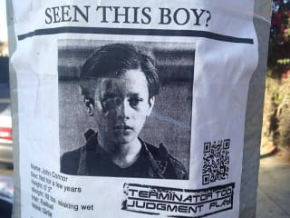 Terminator Too Judgment Play_Los Angeles_John Connor missing poster_Facebook