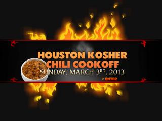 Third Annual Houston Kosher Chili Cookoff