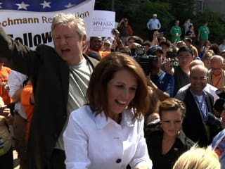 still from the movie Caucus with Marcus and Michelle Bachmann