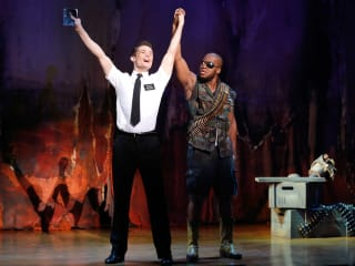 5 The Book of Mormon at the Hobby Center September 2013 Mark Evans and Derrick Williams