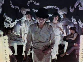 Malcolm McDowell in Stanley Kubrick's A Clockwork Orange