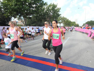 Race for the Cure, October 2012, runners