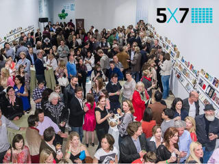 shoppers at Five x Seven art sale for The Contemporary Austin